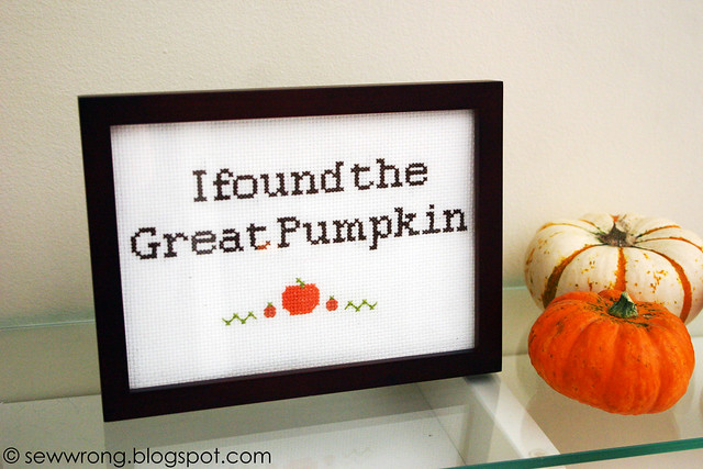 great pumpkin xstitch