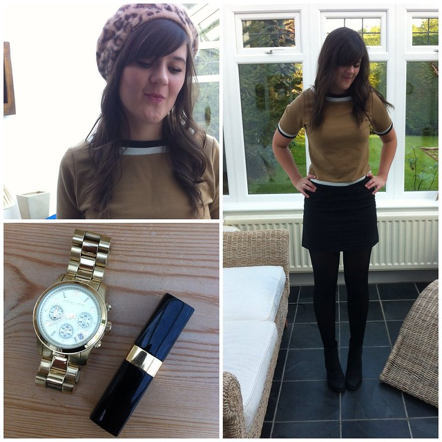 Topshop beige and black jumper Chanel