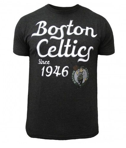 Black Boston Celtics Shoeless T Shirt By Sportiqe