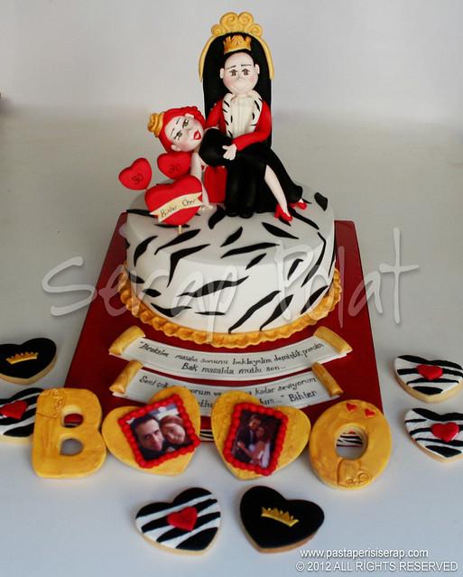 kral kraliçe tasarım pasta
