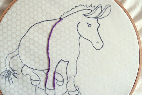 DONKEY EMBROIDERY - Pattern by Lucy of Charm About You