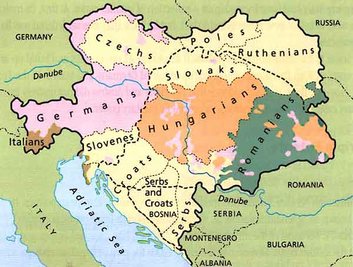 Map of German AustroHungry Empire and Turkey after WW1  WW2