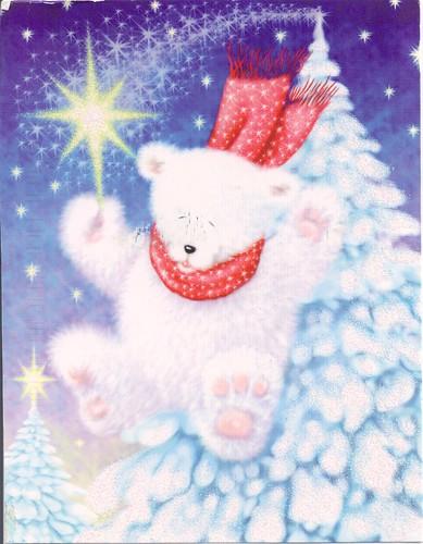 White Bear & Tree Christmas