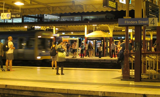 Flinders Street station, 9:06pm