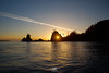 Sunset at Cox Island on the last night of the 2012 season at Langara Island