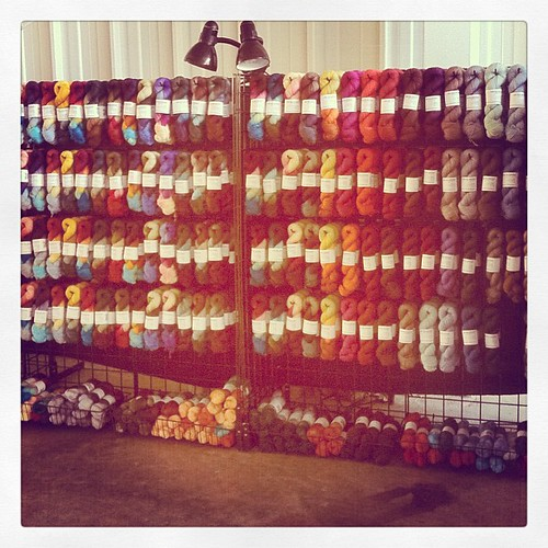 ...and the walls of ITW yarn!