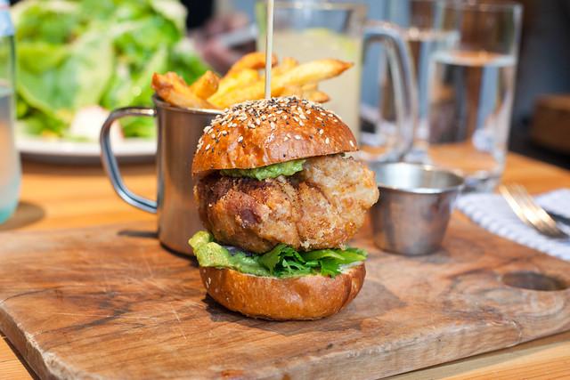 Fried Chicken Thigh Sandwich | Flickr - Photo Sharing! Chicken