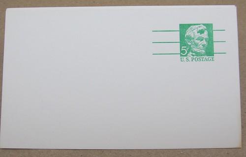 USPS Abraham Lincoln Postal Card