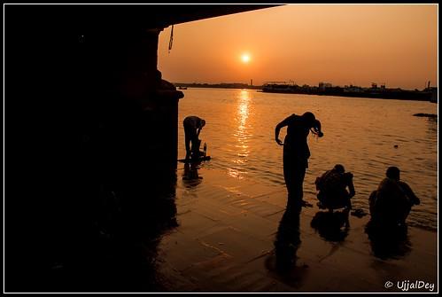 sunset silhouette evening dreams ganges ujjal nikond90 hooglyriver nikon18105mm ujjaldey ujjaldeyin