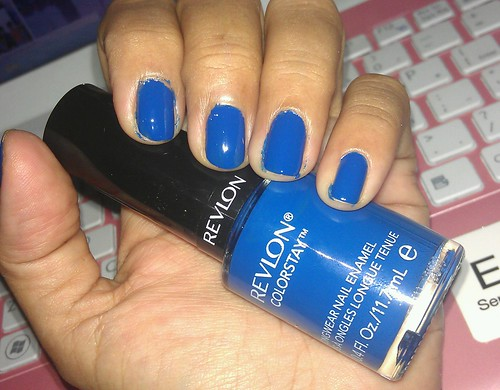 Revlon ColorStay Longwear Nail Enamel 180 Indigo Night swatches