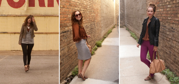 joie rust top remix, dash dot dotty, three ways to wear, what to wear, ootd, closet remix