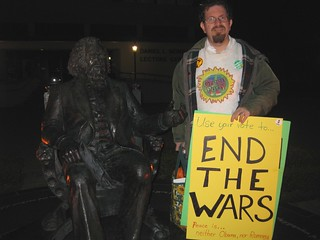Ian Wilder w/ Frederick Douglass: End The Wars @ 2012 Hofstra Debate
