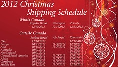 2012 Shipping Schedule