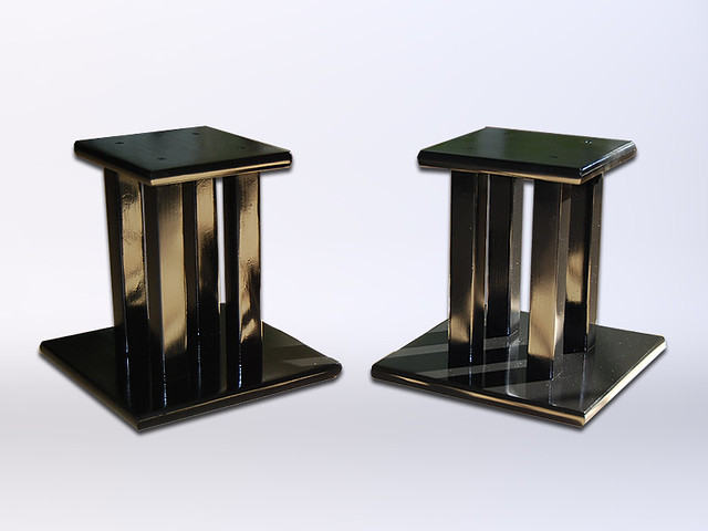 Black Handcrafted Wooden Speaker Stands, Display Stands