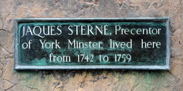 Photo of Jaques Sterne bronze plaque
