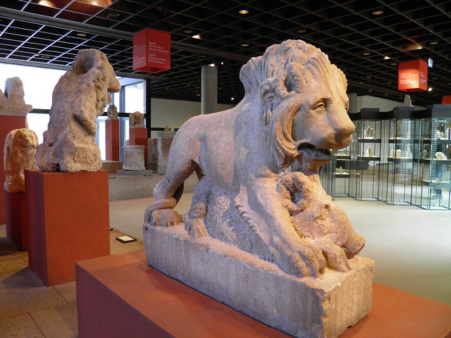 Lion from a gravetomb, lions were believed to frighten away grave robbers, Romisch-Germanisches Museum, Cologne