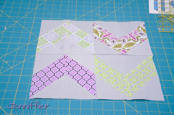 Pictures for the ups and down block tutorial - swedish fishies 4x5 block