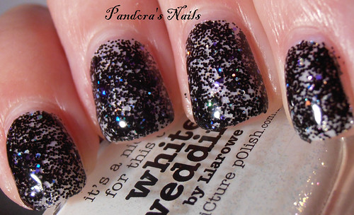 Crowstoes Triple Black Diamond over Picture Polish White Wedding 2