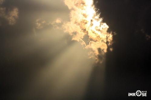 Through the cloud...
