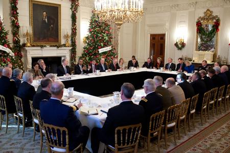 Obama 1 diciembre 2011 Momento histórico Obama anuncia necesidad recortes militares Uti 450
