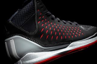 adidas adiZero Rose 3 Away colorway  black nubuck red SPRINTWEB