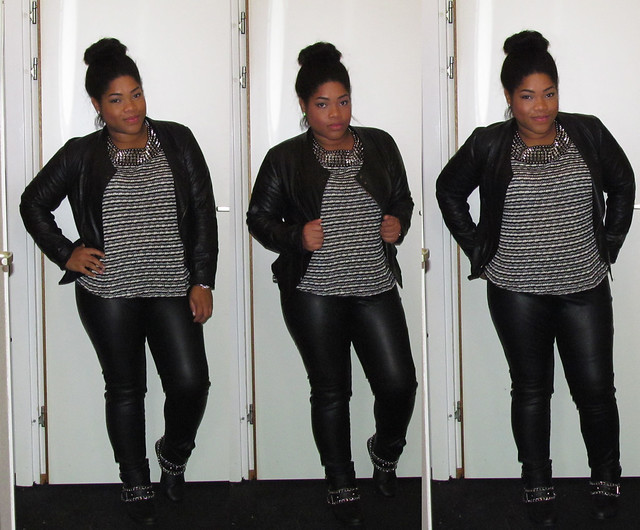 Zara, Vero Moda, New Look, Biker boots, outfit of the day, High bun