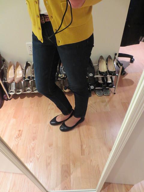香蕉共和国Abby芭蕾平底鞋(黑色),SZ 7(产品编号230422)