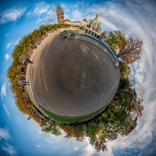 Little Planet - Mathildenhöhe, Darmstadt by sidjej