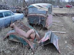 automobile, traffic collision, vehicle, scrap, vintage car,