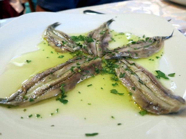 marinated anchovies €8.50