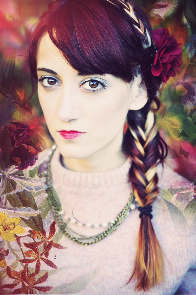 braids and burgundy