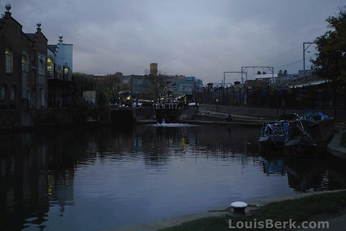 Hawley Lock Basin, Dusk