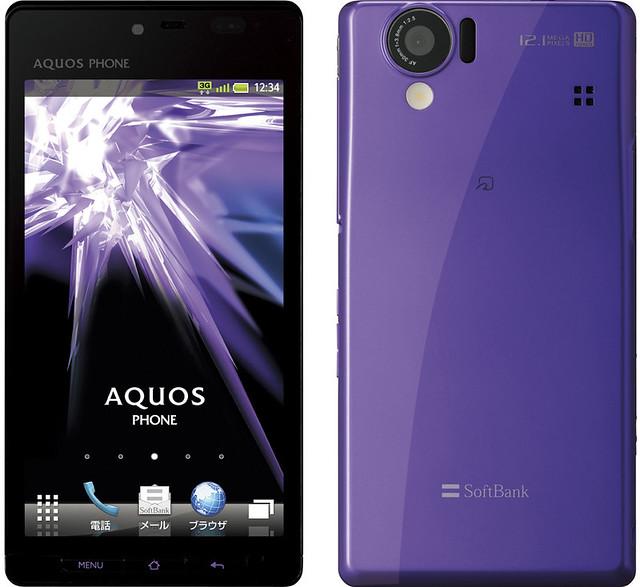 AQUOS PHONE 102SH 実物大の製品画像