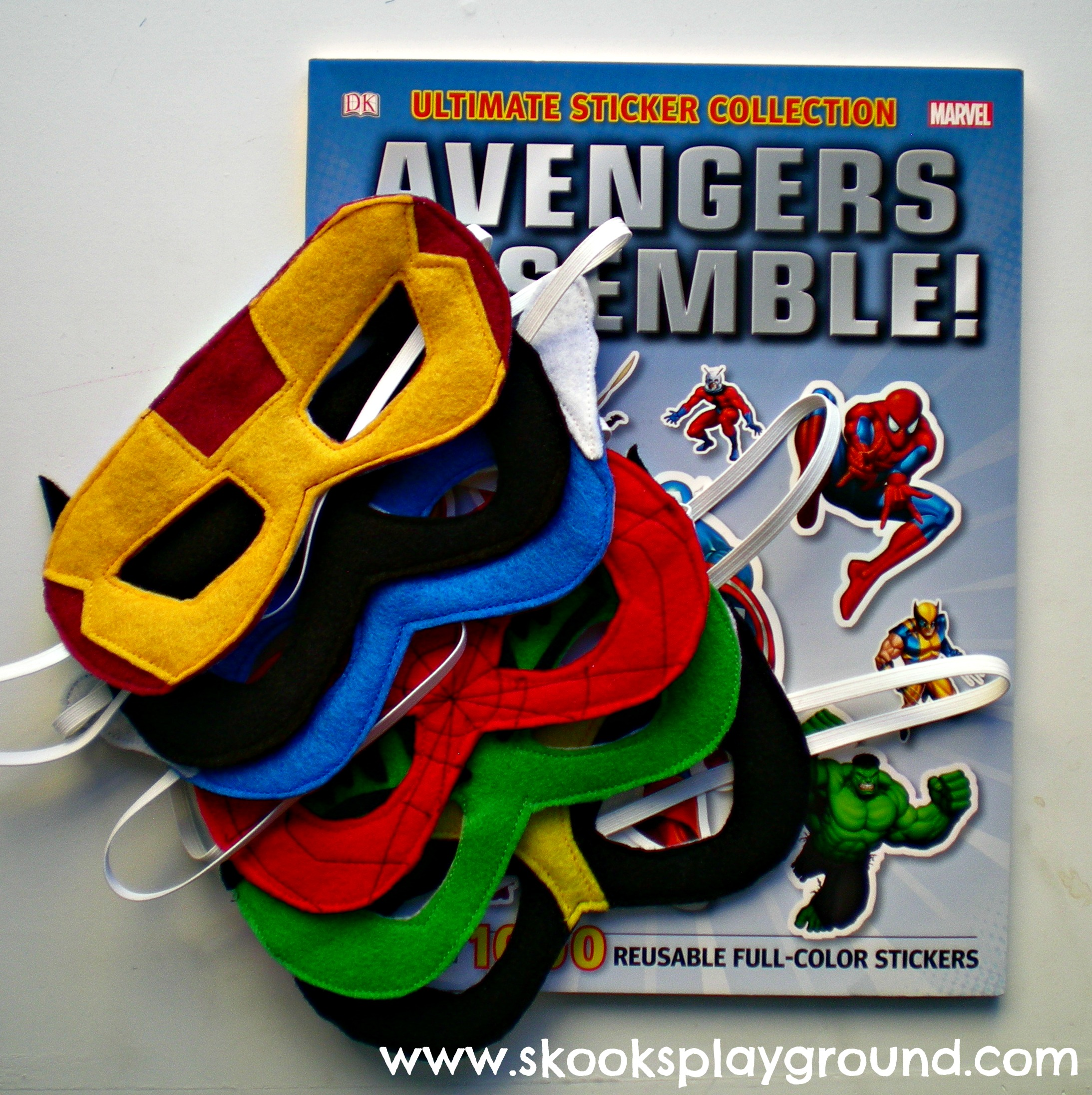 Superhero Masks with Book