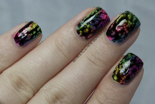 Rainbow Sponge-icure Mani with OPI Black Spotted (5)