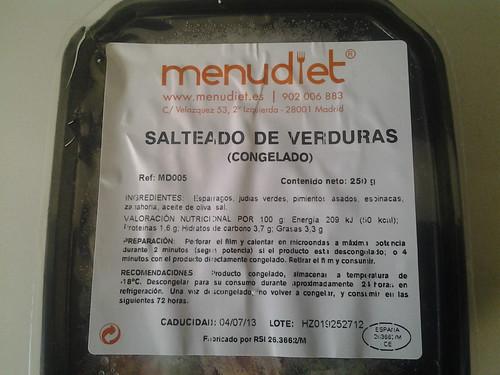 Empaque MenuDiet de salteado de verduras