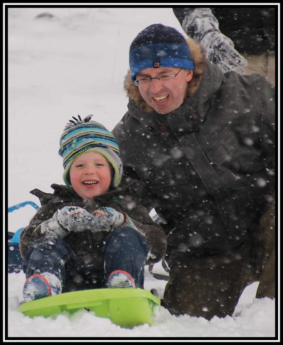 Some family sledging in the morning...