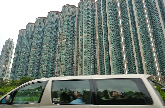 Hong Kong apartment buildings all look the same