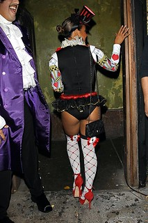 CHRISTINA MILIAN ALICE IN WONDERLAND HALLOWEEN COSTUME .  christina milian from the voice showing her sexy booty