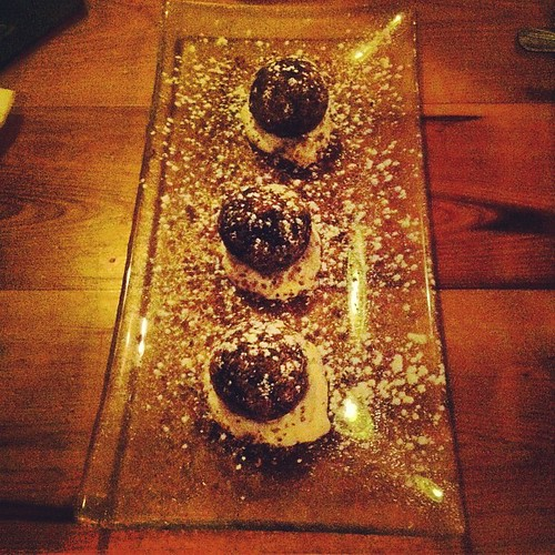 Amazing chocolate truffles.
