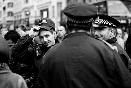 London Protests: Police Photographer