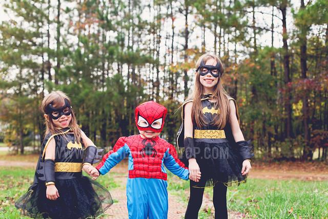 halloween 2012_batgirl_spiderman