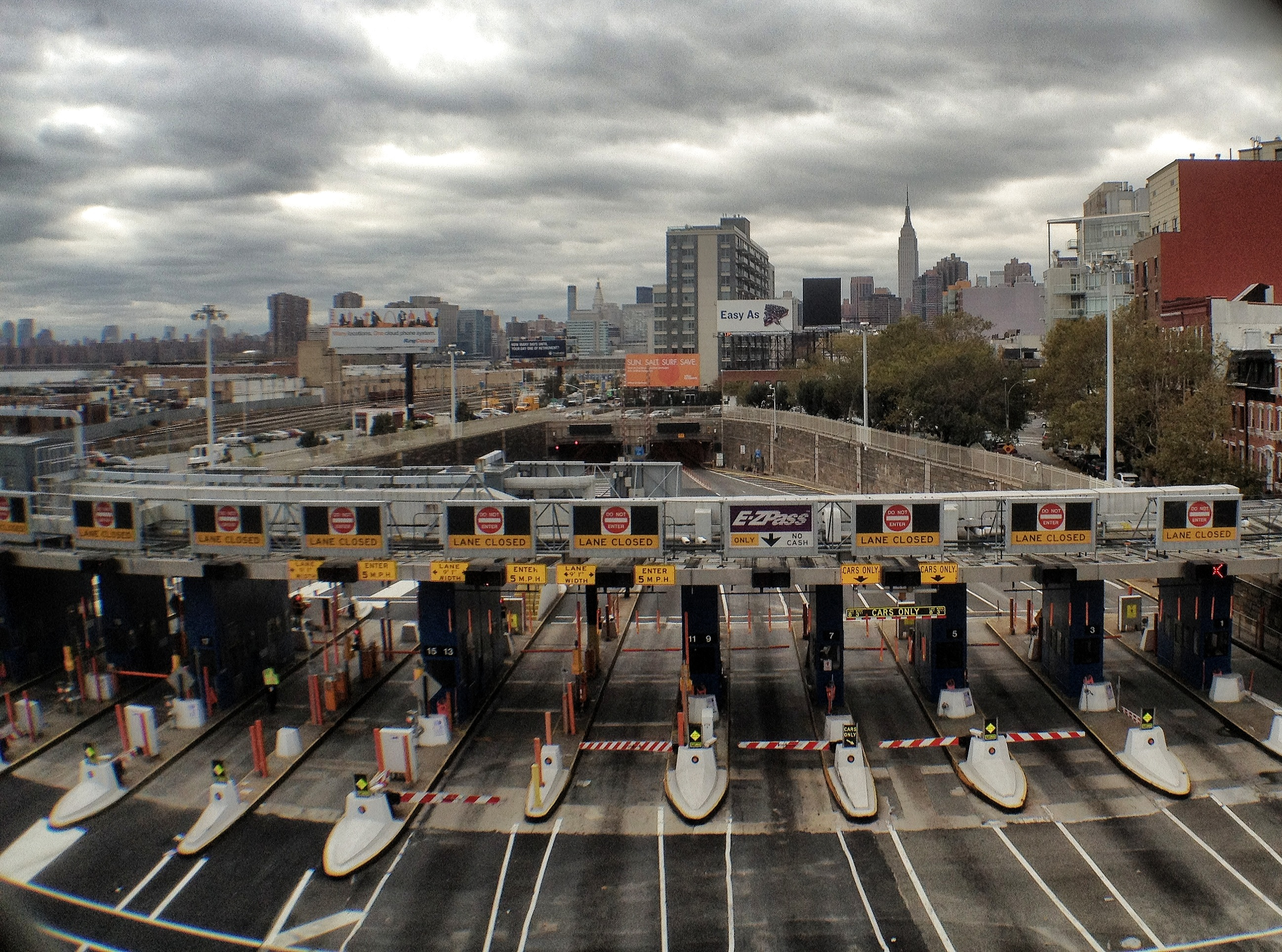 Midtown tunnel during Hurricane Sandy aftermath