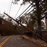 2012 Hurricane Sandy - Closed River Road, Edgewater, New Jersey