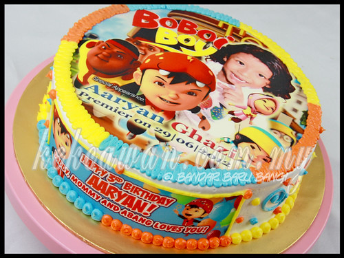 Cake with Boboiboy Edible Image