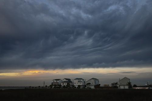 sunset monster clouds giant foot texas like step looks coldfront raining texasgulfcoast galvestoncounty tikiisland nikond800 rainingclouds nikon1635mmf4gvr