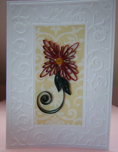 Embossed frame card by Philippa Reid