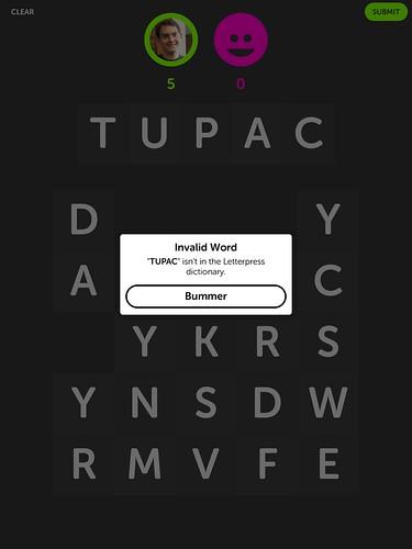 TUPAC isn't a word