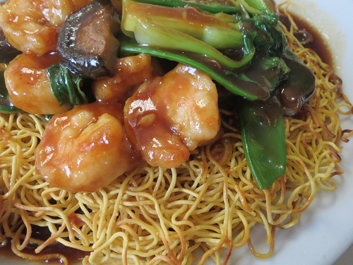 Crispy Noodles with Shrimp and Vegetables