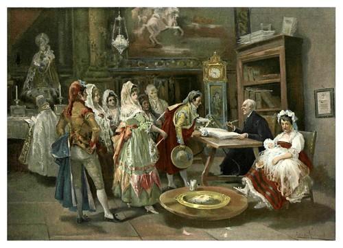 005-Bautizo a principios del XIX- Lucas Villamil-Album Salon 1-1905- Hemeroteca digital de la Biblioteca Nacional de España
